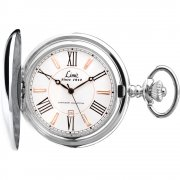 Limit Pocket Watch White dial stainless steel chain Mens watch 5892