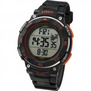 Limit Pro Xr lcd dial chronograph resin strap Mens watch 5485