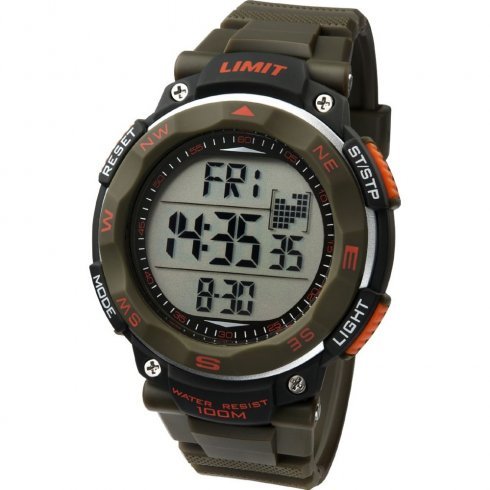 Limit Pro Xr lcd dial chronograph resin strap Mens watch 5488