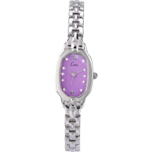 Limit purple dial stainless steel bracelet Ladies watch 6857