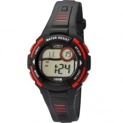 Limit Racing Digital Alarm Chronograph Black Resin Strap Children Watch 5634