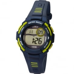 Limit Racing Digital Alarm Chronograph Blue Resin Strap Children Watch 5633