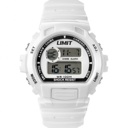 Limit Racing white dial chronograph resin strap Mens watch 6971
