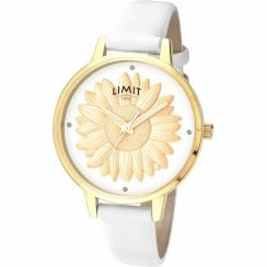 Limit Secret Garden Flower White Dial White Strap Ladies Watch 6282