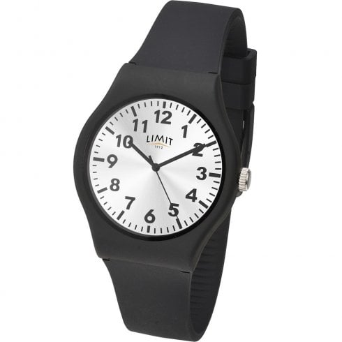 Limit Silver Dial Black Silicon Strap Gents Watch 5947
