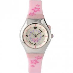 Limit Spinning Disc White Dial Pink resin Strap Children Watch 6677