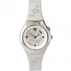 Limit Spinning Disc White Dial White Resin Strap Children Watch 6678