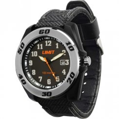 Limit Sports Black Dial Fabric Strap Mens Watch 5411