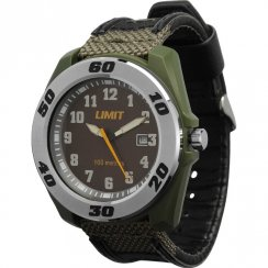 Limit Sports black dial fabric strap Mens watch 5412