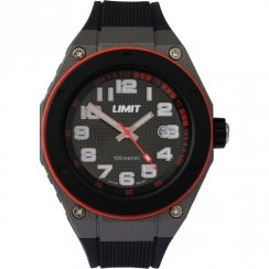Limit Sports black dial resin strap Mens watch 5339