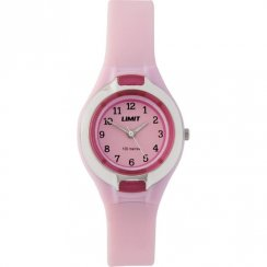 Limit Sports pink dial resin strap Kids watch 6672