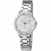 Limit Stone Set Dial Silver Bracelet Ladies Watch 6056