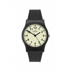 Limit Unisex Luminous Dial Black Rubber Strap Wristwatch 60035