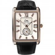 Limit White Dial Black Leather Strap Mens Watch 5884