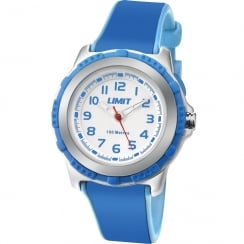 Limit White Dial Blue Rubber Strap Children Watch 5600