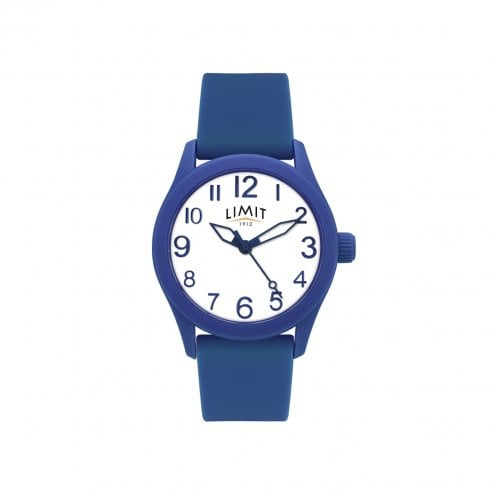Limit White Dial Blue Rubber Strap Unisex Watch 5719