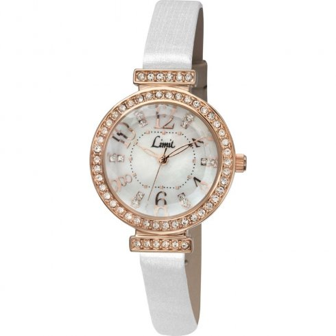 Limit white dial fabric strap Ladies watch 6055