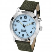 Limit White Dial Green Fabric Strap Mens Watch 5497