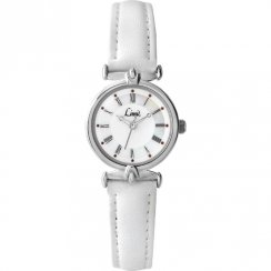 Limit White Dial White Leather Strap Ladies Watch 6034