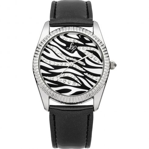 Lipsy BLACK dial LEATHER STRAP Ladies watch LP154