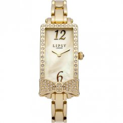 Lipsy Champagne Dial Gold Bracelet Ladies Watch LP166