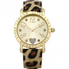 Lipsy Gold Dial Animal Print Strap Ladies Watch LP124