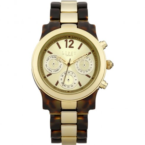 Lipsy GOLD dial STAINLESS STEEL BRACELET Ladies watch LP116