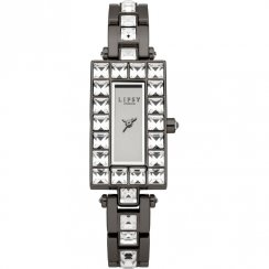 Lipsy Mirror Dial Gun Metal Bracelet Ladies Watch LP177