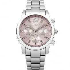 Lipsy Pink Dial Stainless Steel Bracelet Ladies Watch LP390
