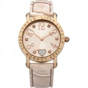 Lipsy Rose Gold Dial Nude Polyurethane Strap Ladies Watch LP150