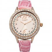 Lipsy Rose Gold Dial Pink Strap Ladies Watch LP338