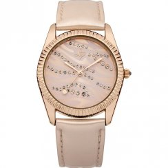 Lipsy Rose Gold Dial Polyurethane Strap Ladies Watch LP173