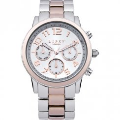 Lipsy Silver Dial Rose Gold 2 Tone Bracelet Ladies Watch LP130