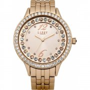 Lipsy Stone Set Dial Rose Gold Bracelet Ladies Watch LP341