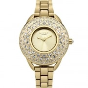 Lipsy Stone Set Gold Dial Gold Bracelet Ladies Watch LP443