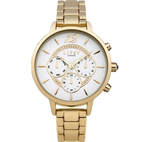 Lipsy White Dial Gold Bracelet Ladies Watch LP424