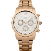 Lipsy White Dial Rose Gold Bracelet Ladies Watch LP351