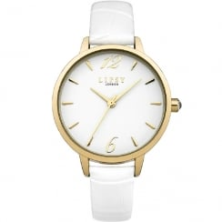 Lipsy White Dial White Strap Ladies Watch LP429