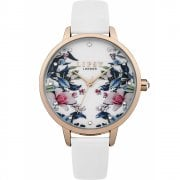 Lipsy White Floral Dial White Strap Ladies Watch LP572
