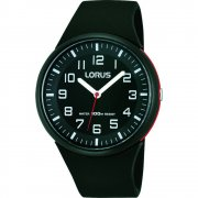 Lorus  black dial resin strap Mens watch RRX47DX9
