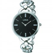 Lorus  black dial stainless steel bracelet Ladies watch RRW11EX9