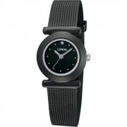Lorus  black dial stainless steel mesh Ladies watch RRS33TX9