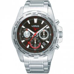Lorus Blades Chronograph Grey Dial Stainless Steel Bracelet Gents Watch RT331AX9