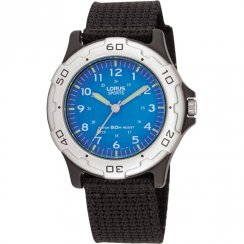 Lorus Blue Dial Black Nylon Strap Boys Watch RRS59FX9