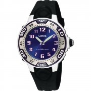 Lorus Blue Dial Black Resin Strap Boys Watch RG235GX9
