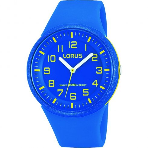 Lorus Blue Dial Blue Resin Strap Unisex Watch RRX51DX9