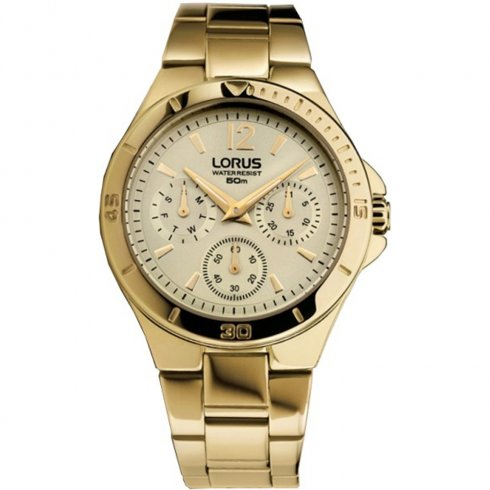 Lorus Champagne Dial Stainless Steel bracelet Ladies watch RP610BX9