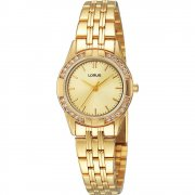 Lorus  champagne dial stainless steel bracelet Ladies watch RRS92TX9