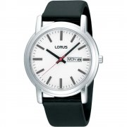 Lorus Classic black dial leather strap Mens watch RH325AX9