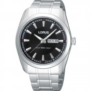 Lorus Classic black dial stainless steel bracelet Mens watch RH327AX9